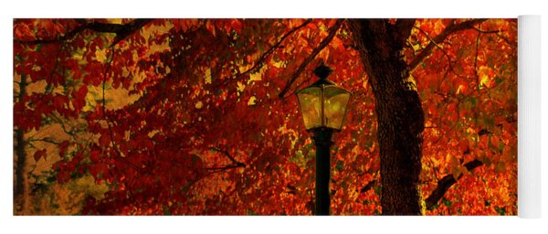 Lantern In Autumn Yoga Mat