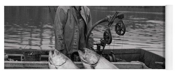 Large King Salmon Moss Landing Monterey California  Circa 1955 Yoga Mat