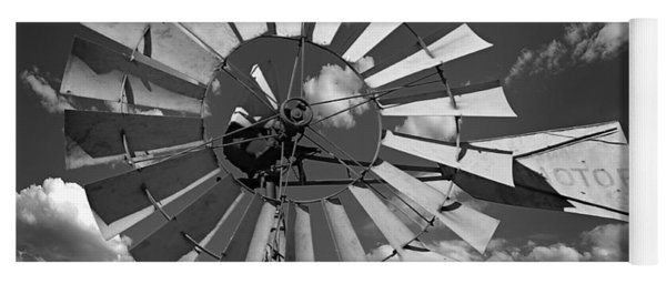 Large Windmill In Black And White Yoga Mat