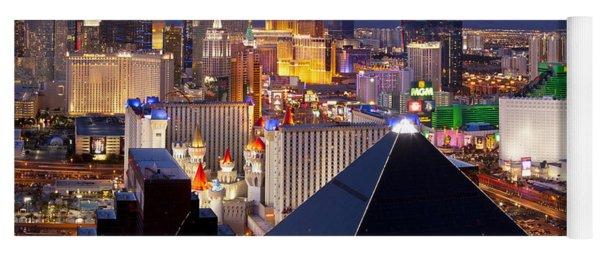 Las Vegas Skyline Yoga Mat