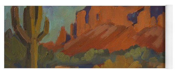 Late Afternoon Light At Superstition Mountain Yoga Mat