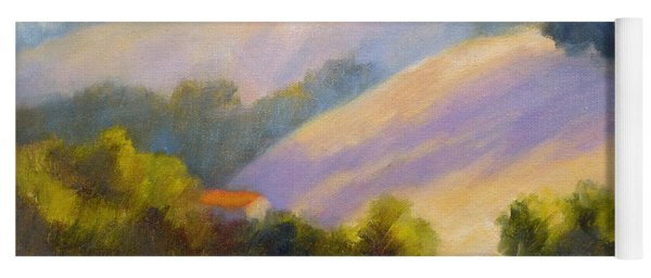 Late June Hills And Lavender Yoga Mat