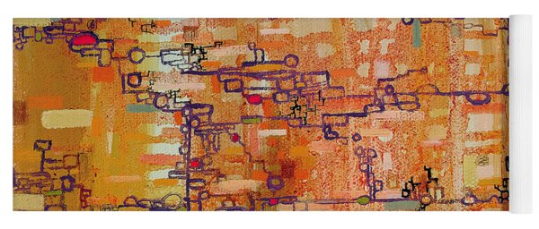 Lattice Animals Abstract Oil Painting By Regina Valluzzi Yoga Mat