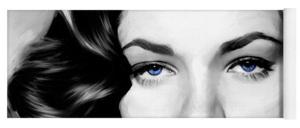 Lauren Bacall Large Size Portrait Yoga Mat