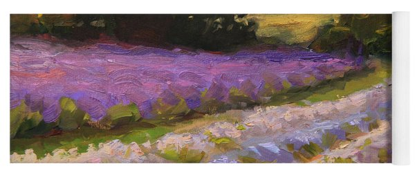 Lavender Farm Landscape Painting - Barn And Field At Sunset Impressionism  Yoga Mat