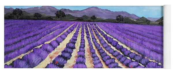 Lavender Field In Provence Yoga Mat