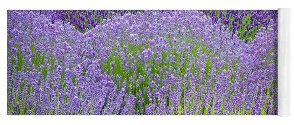 Lavender Flowers Yoga Mat