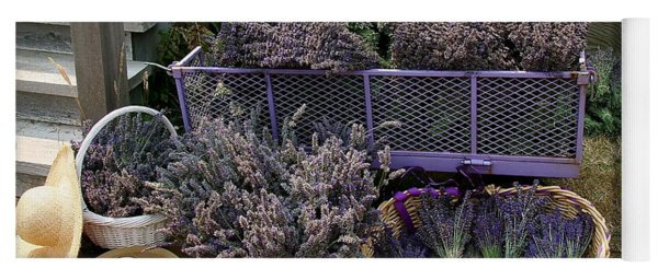 Lavender Harvest Yoga Mat