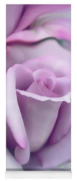 Lavender Rose Flower Portrait Yoga Mat