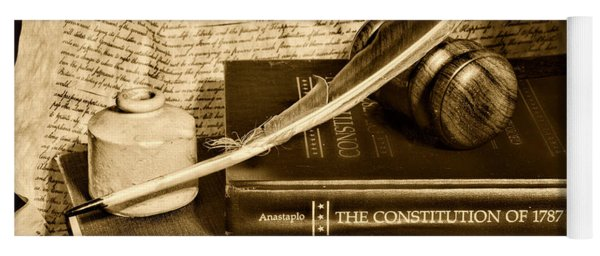 Lawyer - The Constitutional Lawyer In Black And White Yoga Mat