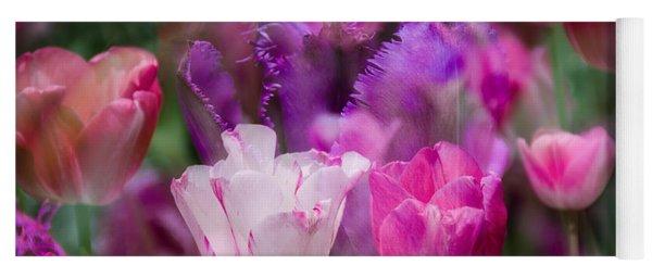 Layers Of Tulips Yoga Mat