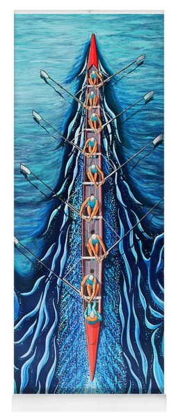 Blue Eight By O4rsom. Rowing Sport Of Champions Yoga Mat