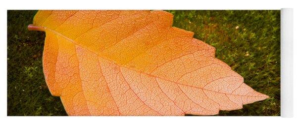 Leaf On Moss Yoga Mat