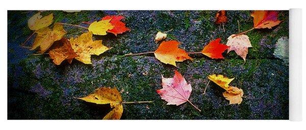 Leaves On Rock  Yoga Mat
