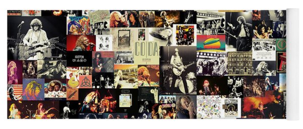 Led Zeppelin Collage Yoga Mat