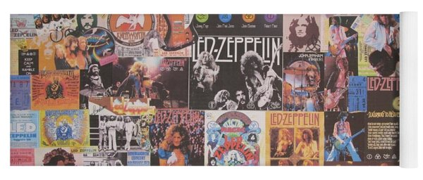 Led Zeppelin Years Collage Yoga Mat