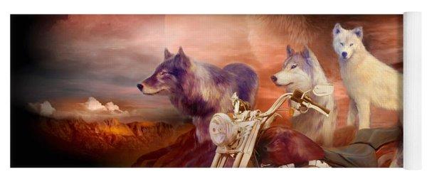 Legend Of Wolf Mountain Yoga Mat