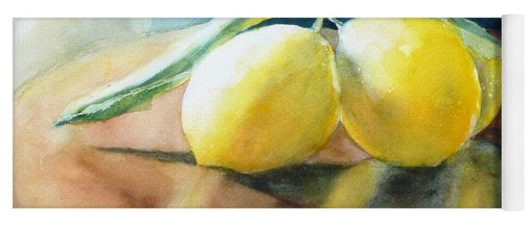 Lemon Reflections Yoga Mat