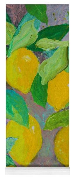 Lemons On Lemon Tree Yoga Mat