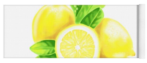 Lemons Yoga Mat