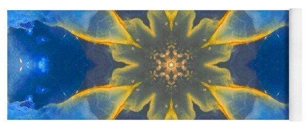 Lemurian Aquatine Calcite Mandala Yoga Mat