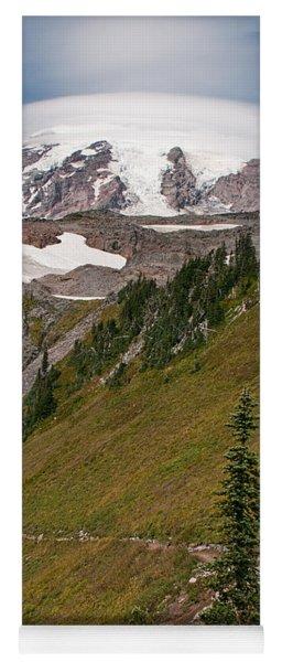 Lenticular Cloud Atop Mt Rainier Yoga Mat