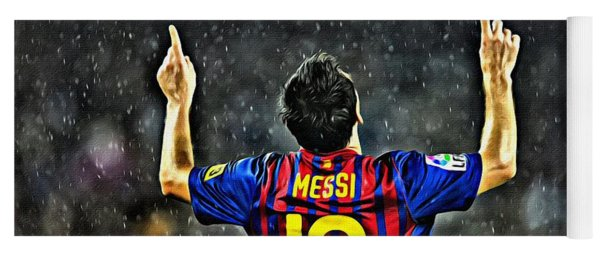 Leo Messi Poster Art Yoga Mat