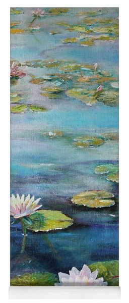 Yoga Mat featuring the painting Leo Mol's Garden by Ruth Kamenev