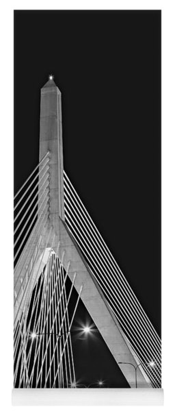 Leonard P. Zakim Bunker Hill Memorial Bridge Bw II Yoga Mat