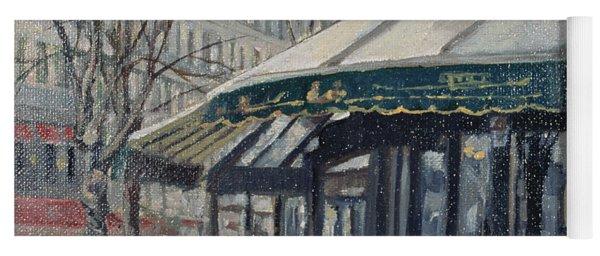 Les Deux Magots, St Germain Des Pres, Paris, 1998 Oil On Canvas Yoga Mat