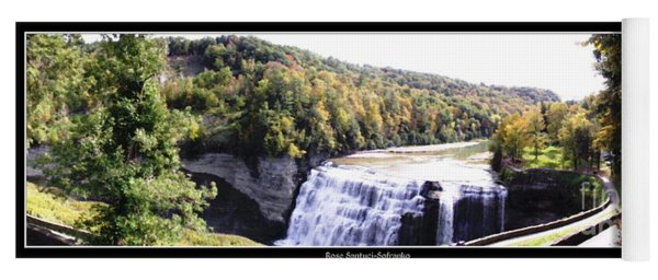 Letchworth State Park Middle Falls Panorama Yoga Mat