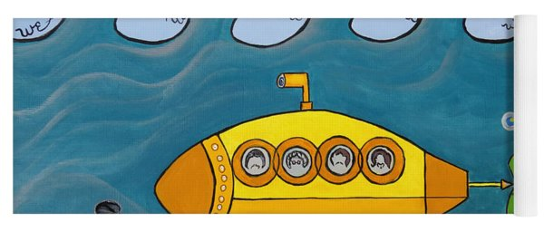 Lets Sing The Chorus Now - The Beatles Yellow Submarine Yoga Mat