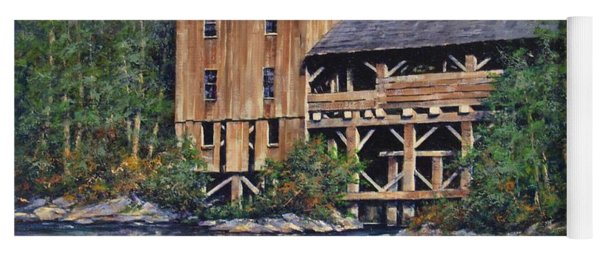 Lewisville Grist Mill Afternoon Yoga Mat