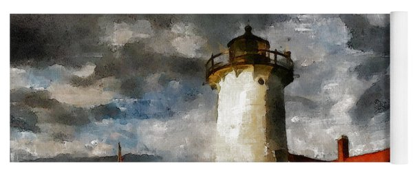 Light House In A Storm Yoga Mat