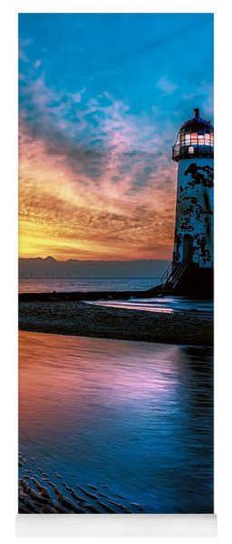 Yoga Mat featuring the photograph Light House Sunset by Adrian Evans