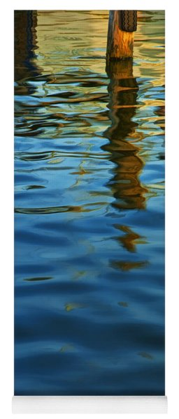 Light Reflections On The Water By A Dock At Aransas Pass Yoga Mat