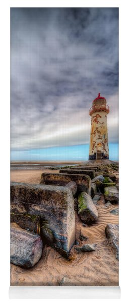 Lighthouse At Talacre  Yoga Mat