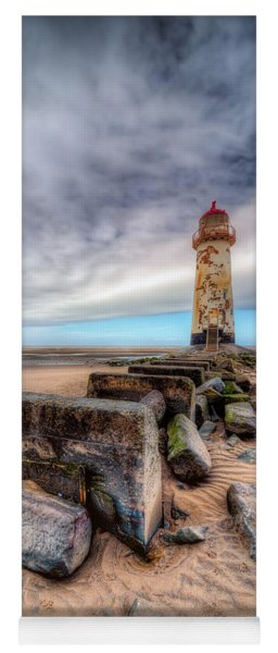 Lighthouse At Talacre  Yoga Mat