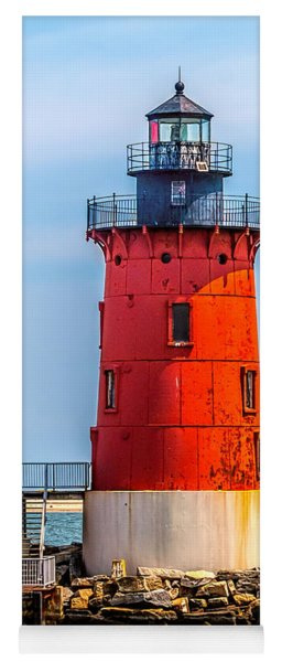 Lighthouse At The Delaware Breakwater Yoga Mat