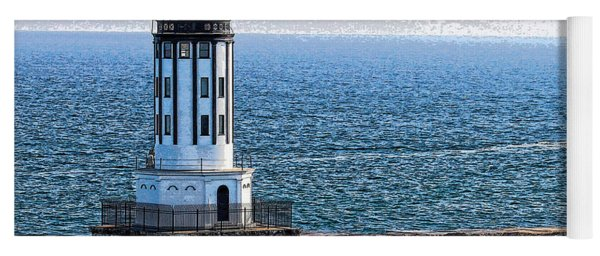 Lighthouse At The Port Of Los Angeles Yoga Mat