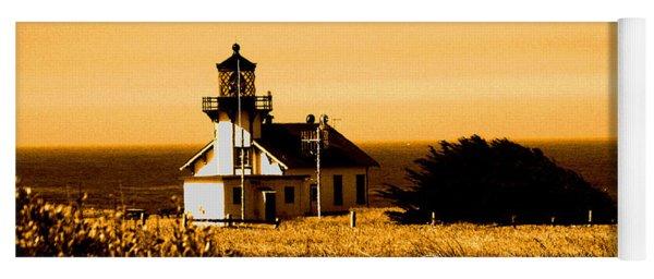 Lighthouse In Autumn Yoga Mat