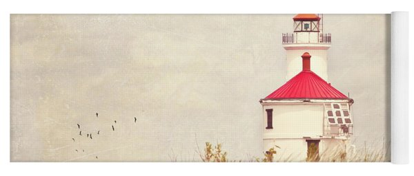 Lighthouse With Red Roof Yoga Mat