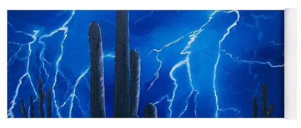 Lightning  Over The Sonoran Yoga Mat