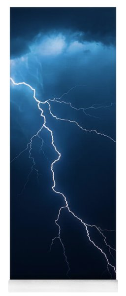 Lightning With Cloudscape Yoga Mat
