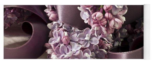 Lilac And Ribbon Curls Yoga Mat