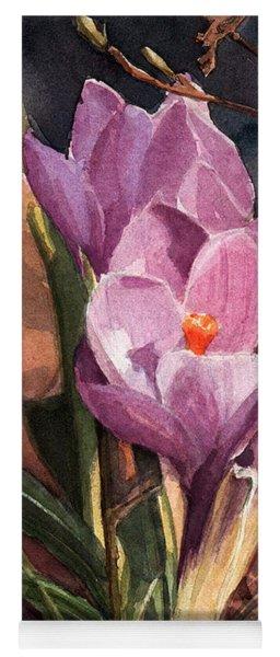 Lilac Crocuses Yoga Mat