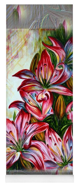 Lilies Fantasy Yoga Mat