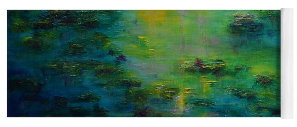 Lily Pond Tribute To Monet Yoga Mat