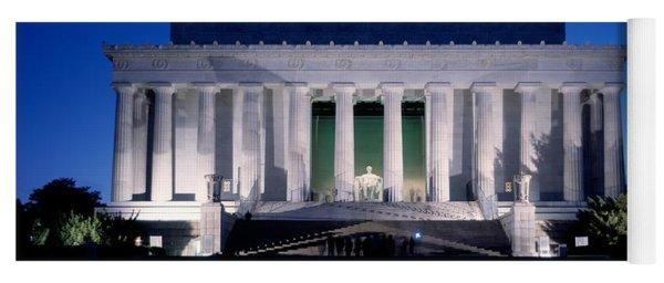 Lincoln Memorial At Dusk, Washington Yoga Mat