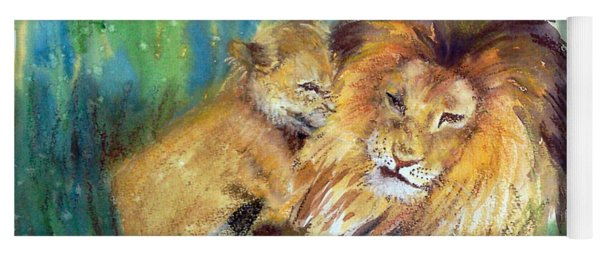 Lion And Cub -2 Yoga Mat
